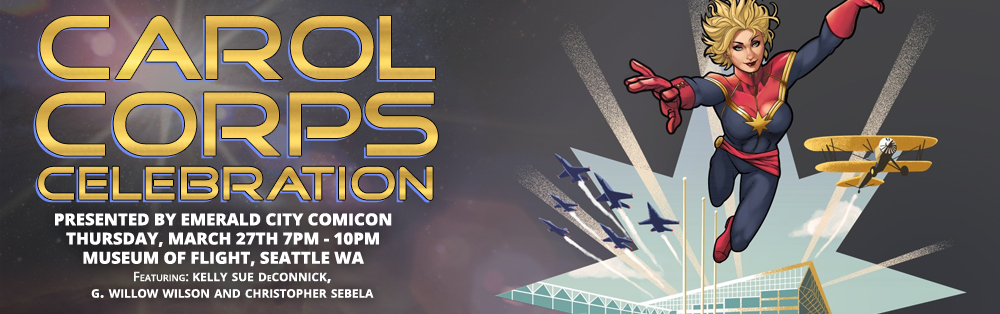 emeraldcitycomicon: Carol Corps Celebration! Here's your reminder that tickets are still available for our special cocktail party featuring kellysue, gwillow, and thoughtpeach at the Museum of Flight in Seattle. Join us! This is happening and they haven't kicked me out yet, so get tickets while the getting is good.