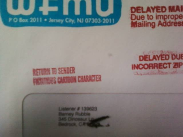 wfmu :     The Old Return to Sender Fictitious Cartoon Character Stamp