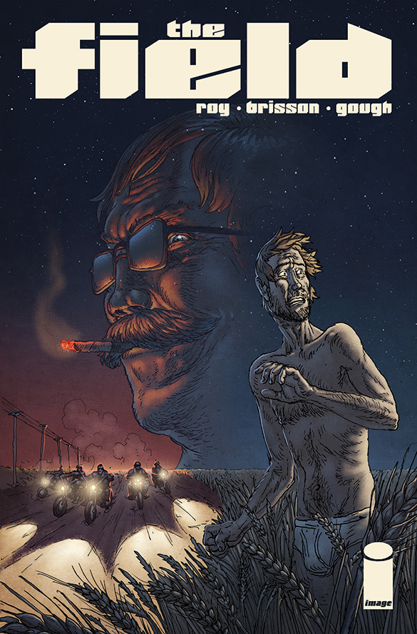 edbrisson :     Looks like I can finally post about this!   Coming April 2, 2014 from Image Comics!   The Field #1  illustrated by Simon Roy written/lettered by Ed Brisson coloured by Simon Gough   About:     A man wakes in a field wearing nothing but his underwear. He's got no idea who he is or how he got there. His only connection to the outside world is a cell phone on which he receives mysterious texts warning him of impending danger. Danger like Christian, an ex- bible  salesman in the middle of a crime spree fueled by Christian Rock, dirty sex, meth and murder.    Really excited to get this book into people's little grubbies. Words cannot express how much fun this series has been to write.   Check out more info on  Comics Alliance!      Ed is good. Buy more Ed.