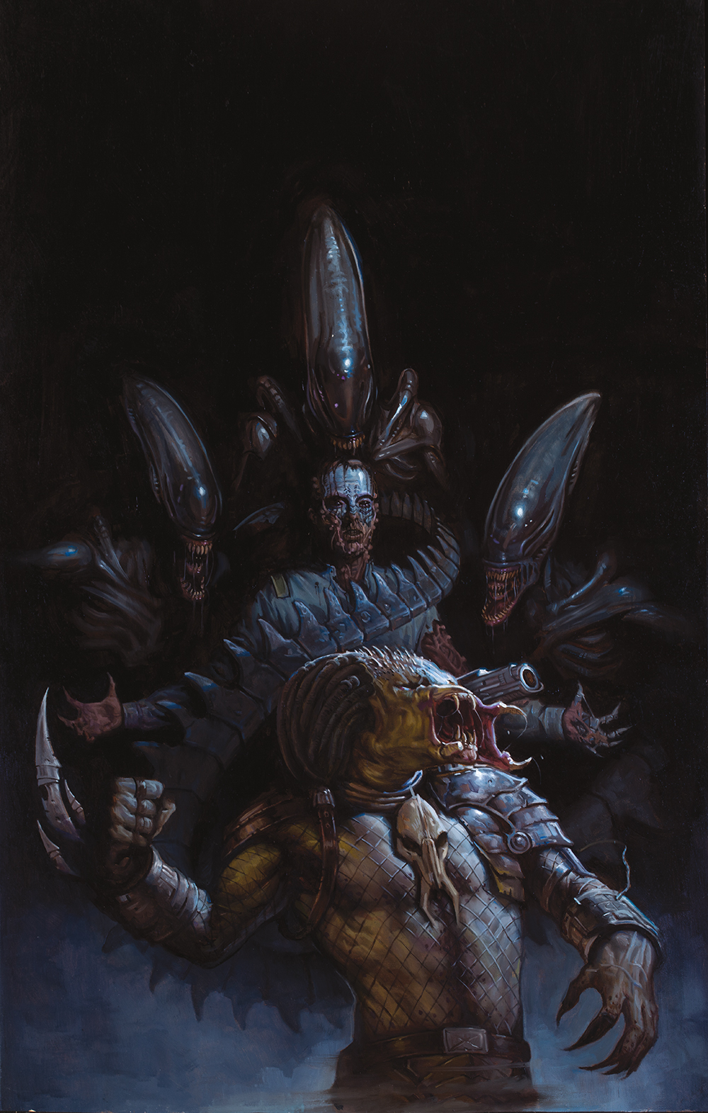 Now I can finally show you all the cover for Alien Vs. Predator #1 by EM Gist. I am a lucky lucky man.