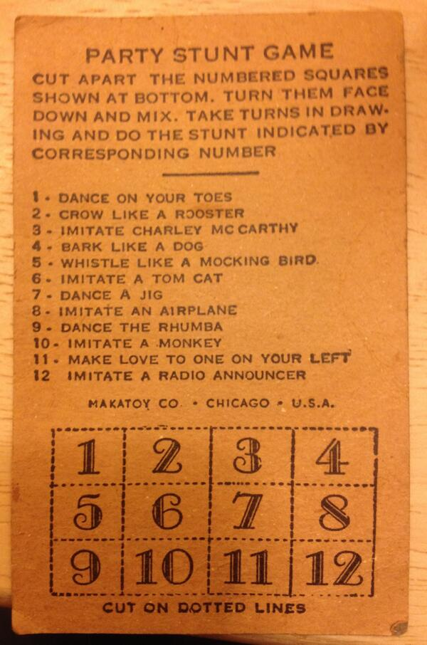 1940s bacchanalia in a business card