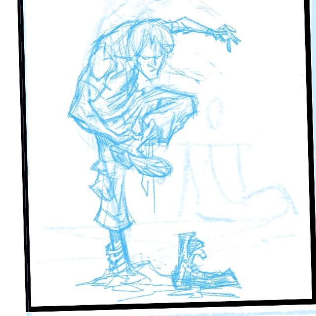 brianchurilla: On the drawing board: #cruelbiology #darkhorse #darkhorsecomics #dhp #art #comics