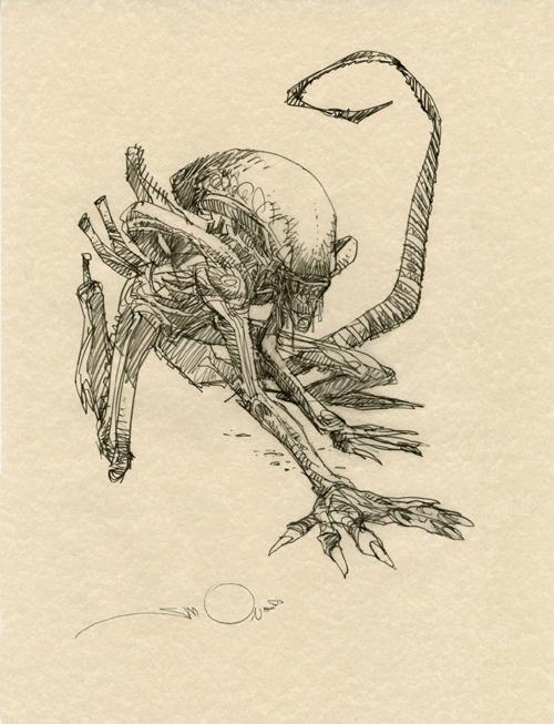 "johnrezas :     ""Xenomorph"" by Walt Simonson."