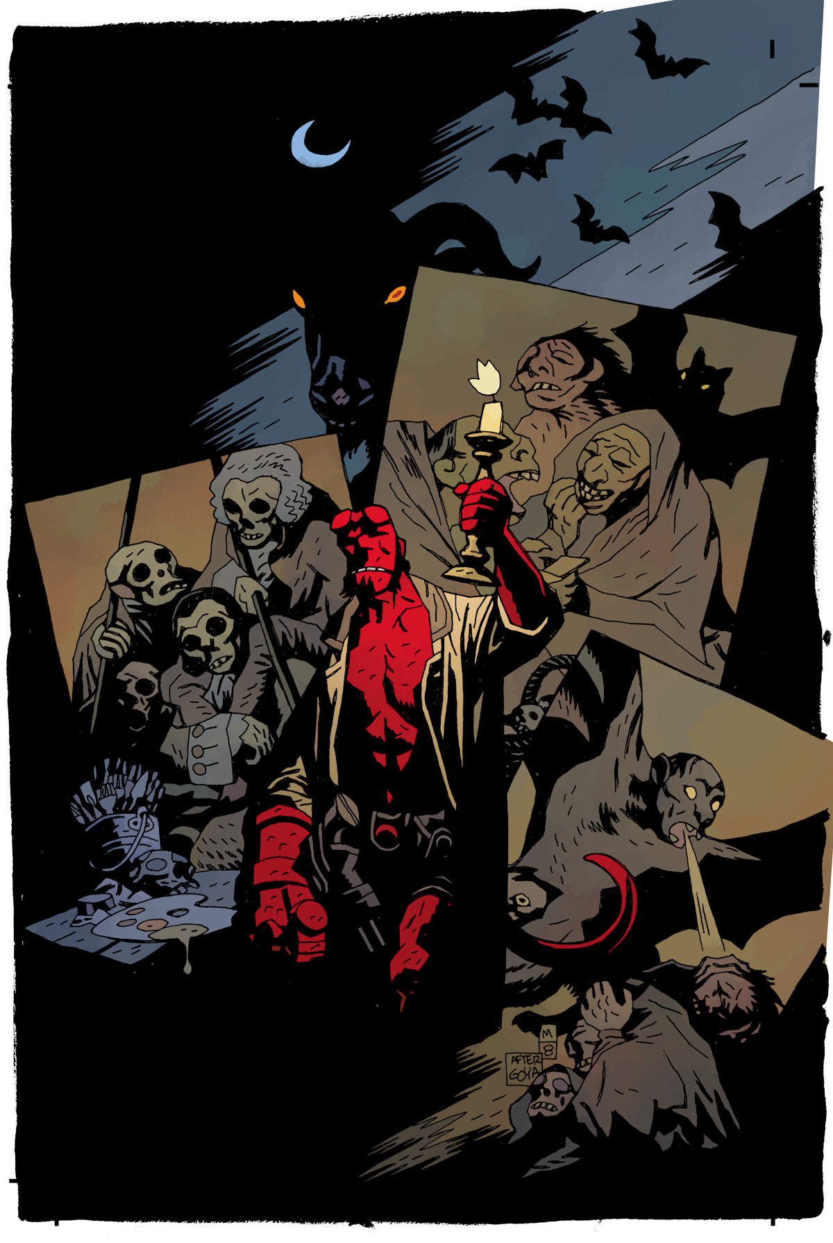 brianmichaelbendis :      HELLBOY: IN THE CHAPEL OF MOLOCH     Story and Art by Mike Mignola      relevant to this weekend