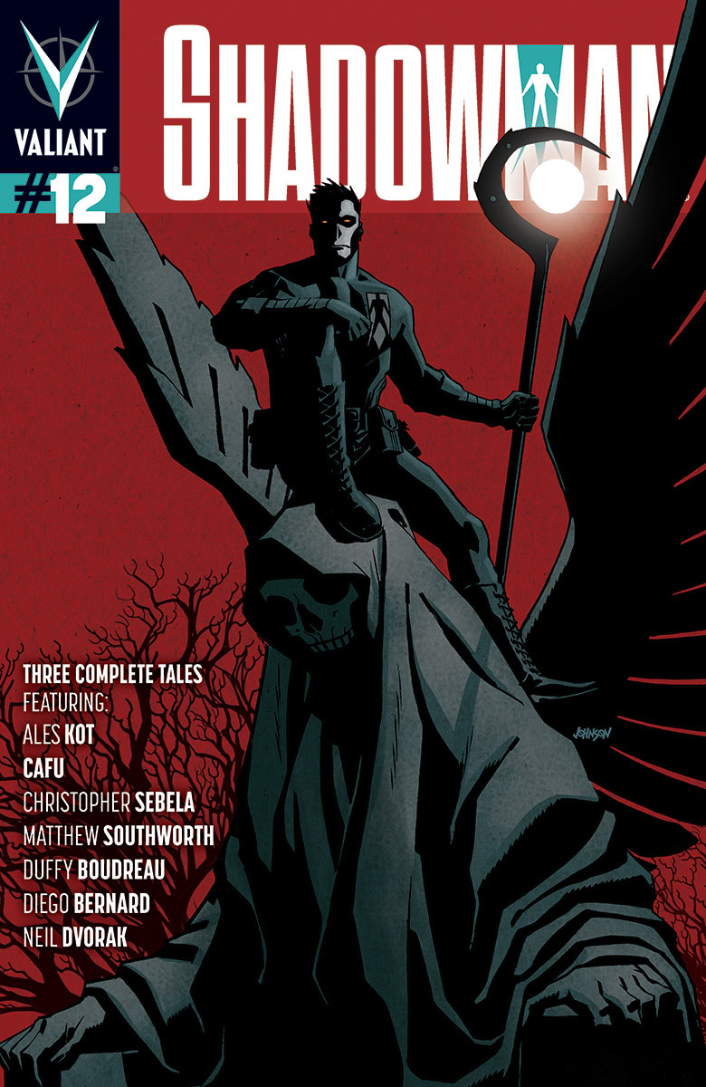 OUT TODAY. I have an 8-page story with Matthew Southworth, Jose Villarubia and Dave Sharpe in SHADOWMAN 12, an anthology issue that includes a story by my solid comics bro, Duffy Boudreau and a mothercussin Dave Johnson cover.