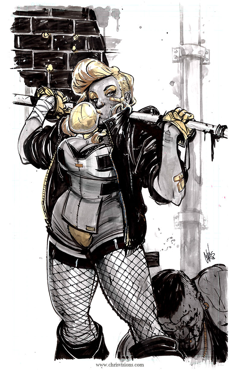 chrisvisions :     .: Black Canary:. Wrapped up another commission last night and did my take on Black Canary, who I kinda always thought would be cool… black.  I'll definitely be revisiting a bit more of her in the future -   Thanks Nicki for the inspiration ;)