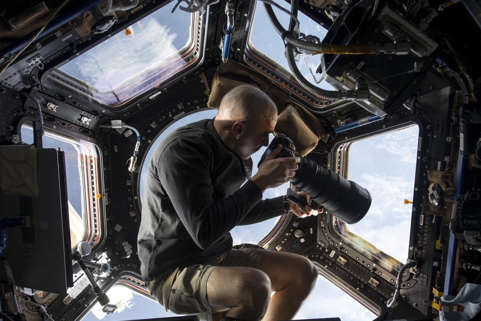 inothernews :       PEEP SPACE NINE    NASA astronaut Chris Cassidy photographs Earth from inside the Cupola module aboard the International Space Station. (Photo: NASA via Reuters / The Wall Street Journal)