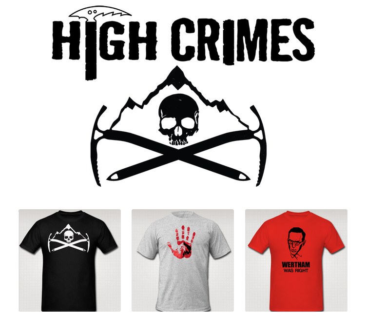 highcrimescomic :       All three shirts are back up for order in the store ,  now reduced in price ($18 a pop), with shipping adjusted accordingly, it's never been cheaper or easier to get yourself a shirt. All profits go to me and Ibrahim and keeping us working on  HIGH CRIMES (get all 5 issues for under $5) without as many distractions.   Pre-orders open until Monday, November 4th, then they're off the market until we forget what pain in the ass selling shirts is again.