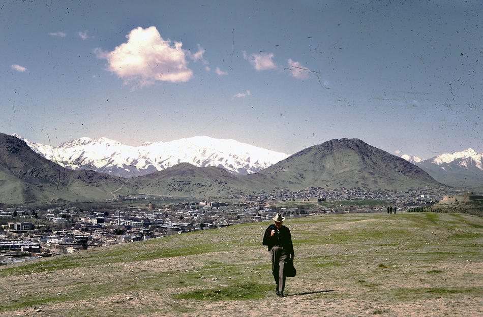 Dr. Bill Podlich on a hillside in Kabul, Afghanistan. 1961.     more at   Remembering 1960s Afghanistan