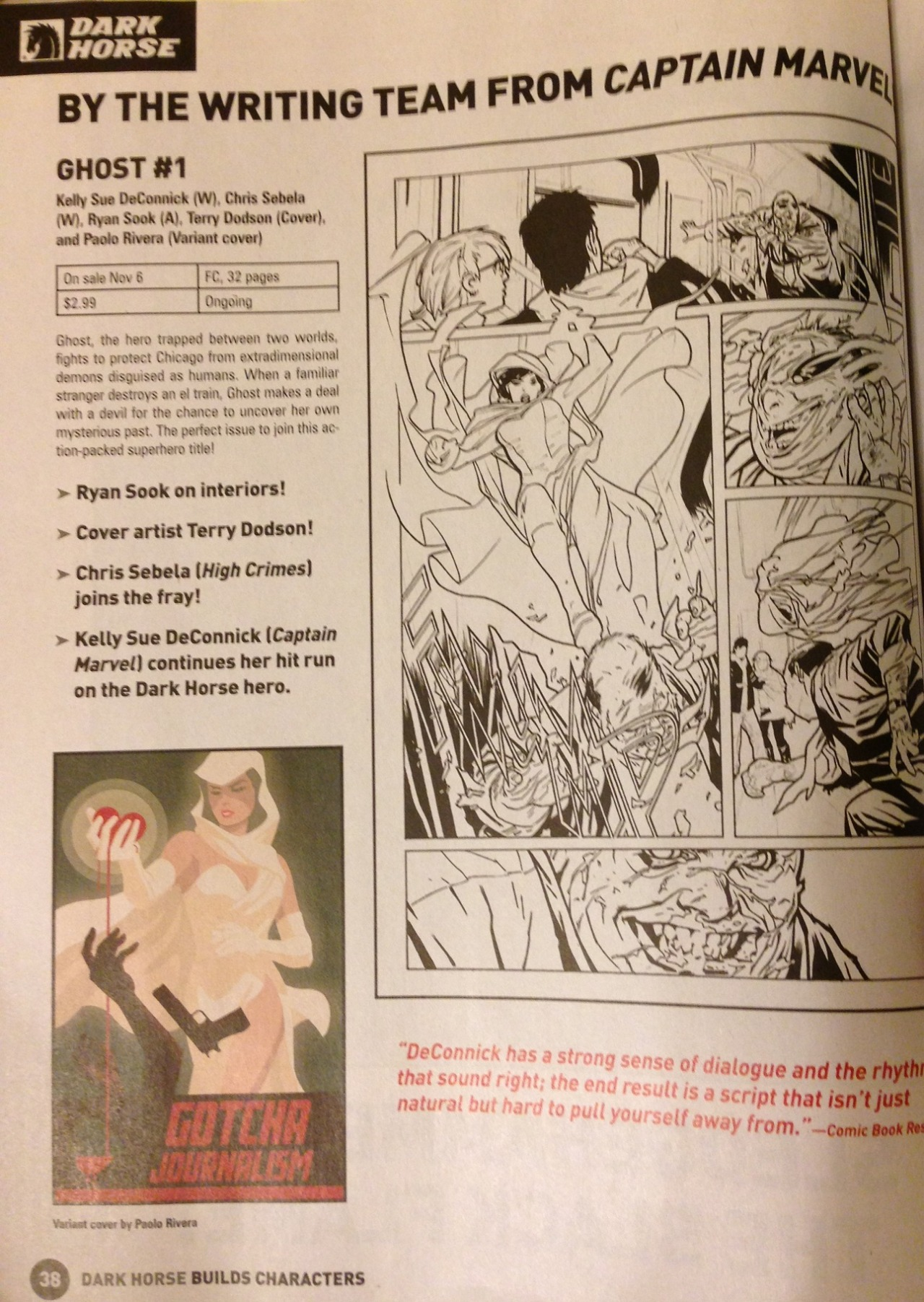 Hey look, actual Previews page.   Hey look, actual RYAN SOOK ARTWORK.
