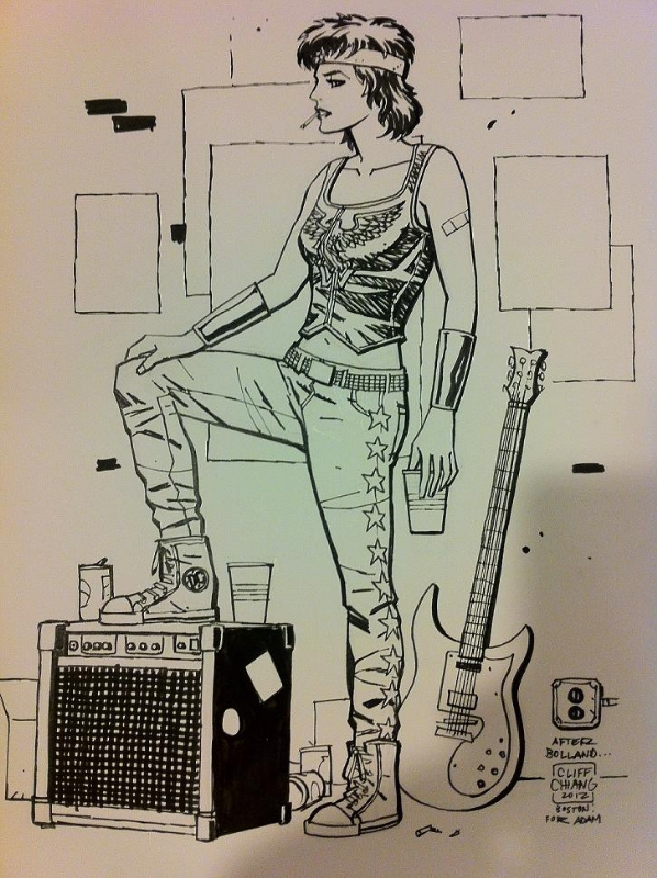 Joan Jett Wonder Woman by Cliff Chiang