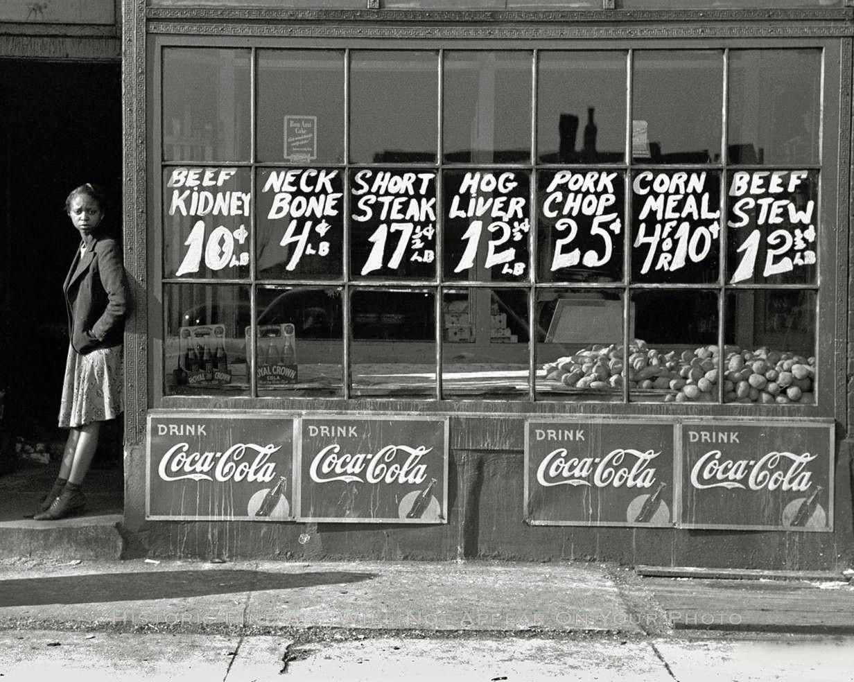 calumet412 :     Grocery, 1938, Chicago. Edwin Rosskam