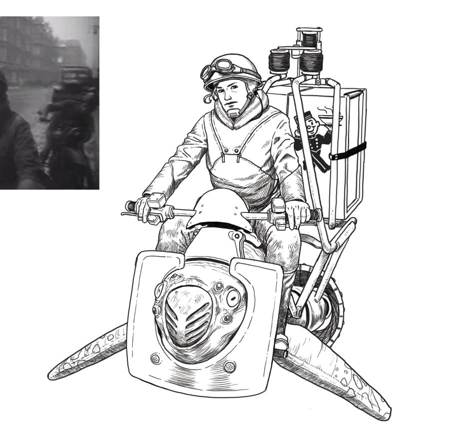 stevensanders :     Symbiosis ramen delivery skimmer. WIP     fuuuuuu