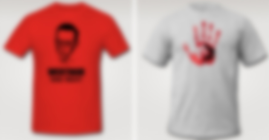 On sale tomorrow. What could they be? They are t-shirts, dummy.