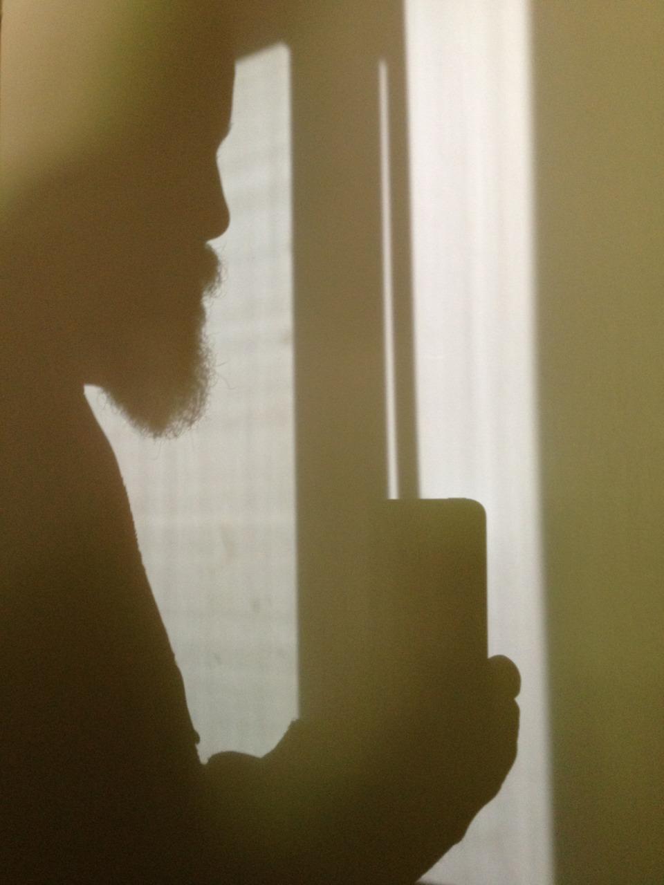 Silhouette selfie, because beard