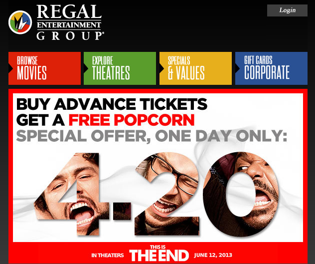 Regal Cinemas: Shit, We Just Don't Care Anymore, Will You Please Buy A Ticket?
