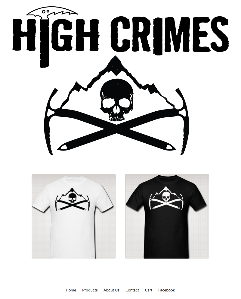 highcrimescomic :       HIGH CRIMES SHIRTS  (in black and in white) are now available for a  ONE WEEK PRE-ORDER .      We're a two-man operation, so it doesn't make sense to just order shirts willy-nilly, so here's how it works: You  order them , pay for them, once we gather all the   orders by  12 noon next Friday , we'll send them off to the screenprinter and get orders out 2 weeks after that (depending how fast the mail goes).     If we don't get a ton of orders or this turns out to be a nightmare of bureaucracy, this could be your last chance to get one and help support HIGH CRIMES beyond just buying the book. Show 'em what ya read by wearing a t-shirt.     We'll update you here on tumblr, so you know just what's up with your stuff. If something messes up, or you have questions, please let us know right here or email us at highcrimewaveATgmailDOTcom.      help us help you help us