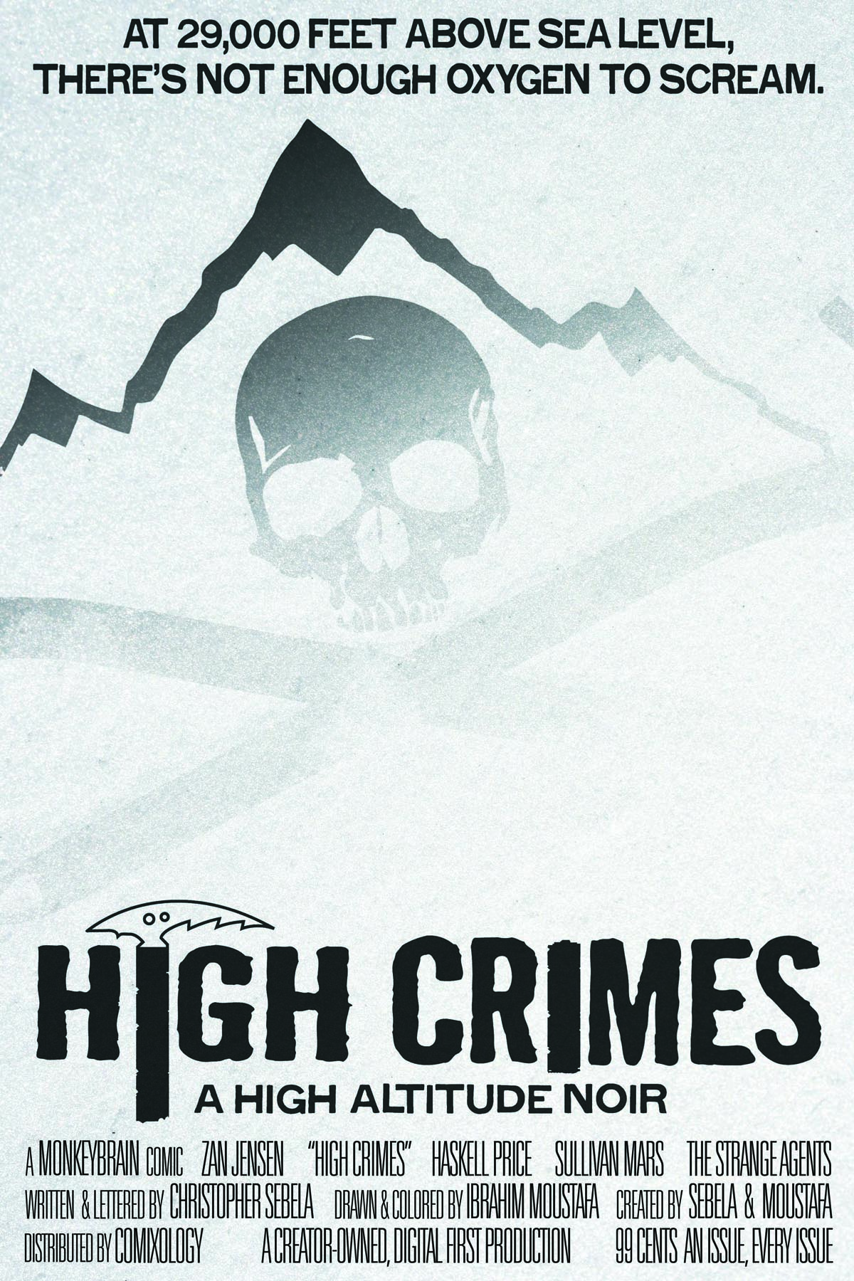 highcrimescomic: Back during the lead-up to issue 1, I got this stupid tagline in my head, a riff on the never-topped ALIEN tagline. It was so dumb, but so perfectly dumb, I could not eject it from my head, and last night, as a way to stress-test Creative Suite on my new machine, I tried to make it happen. High Crimes #3 is coming. Not as fast as we'd like, but greater than we ever expected, with two whole extra pages of story to make up for the wait. Updates when update-able. I can always justify taking a joke all the way to the finish line.