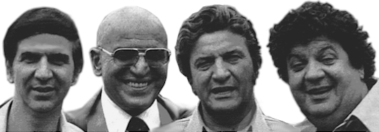The Savalas brothers (l-r): Teddy, Telly, Gus & George