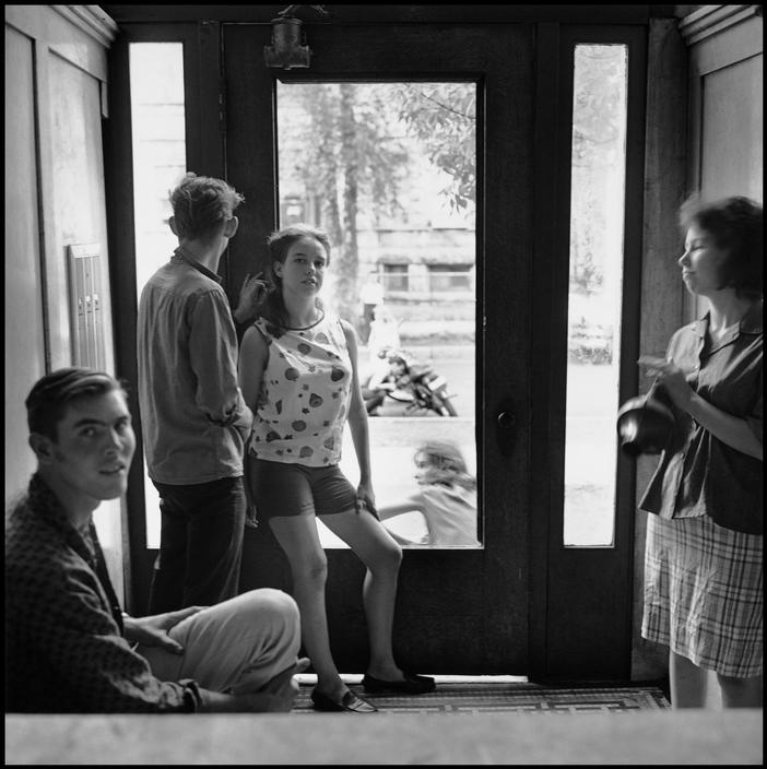 calumet412: Uptown, 1965, Chicago. Danny Lyon I took a double-take when I saw this photo. The foyer is identical to the one in my building but the view across the street is not what I see from mine. This is eerily similar to a building I did my most crucial growing up in, also in Uptown.