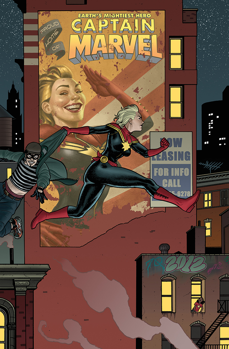 joequinones: Just saw this announced online — my cover for issue 11 of Captain Marvel! Holy cats, that's great.