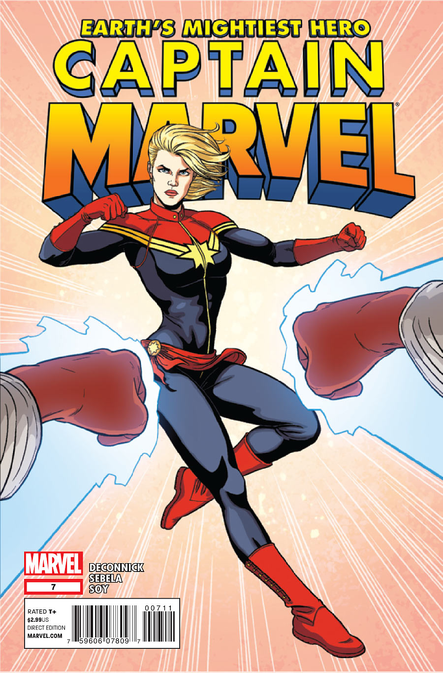 kellysue :      blueravencomics :      Marvel Comics Preview: Captain Marvel #7      Yay, @mckelvie cover!      You guys, it's my name on a Marvel comic. You guyyyyys.