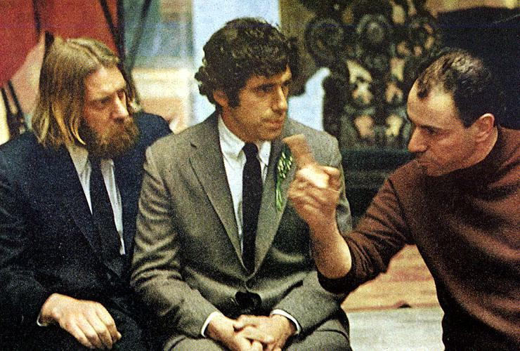 supervillain :     Alan Arkin directing  Little Murders.      The greatest trio ever assembled.