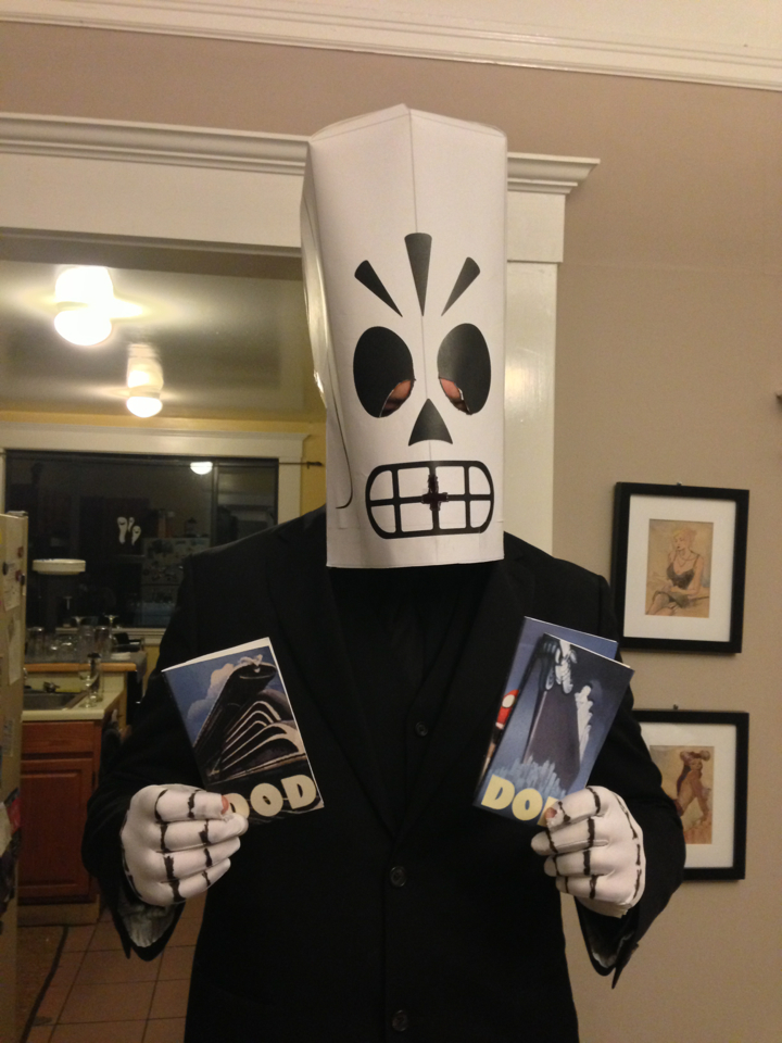 "expertologist :     ""My name is Manny Calavera. I'm your new travel agent.""      Chris wins."