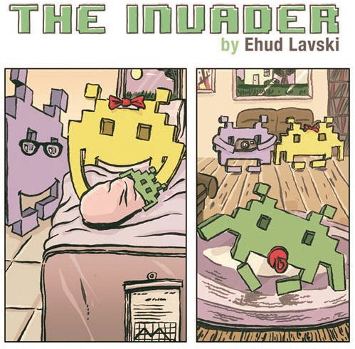 The Invader by Ehud Lavski  - Basically Grant Morrison's LAST MAN FALL issue of THE INVISIBLES, but with sprites.