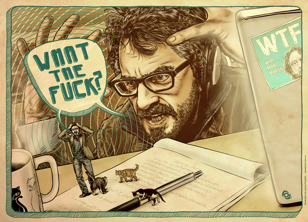 James Fosdike 's Podcast Art: WTF