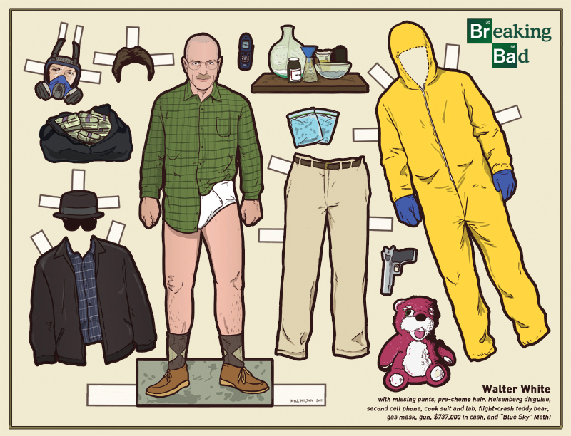 flannelanimal :      Doll #11  Walter White,  Breaking Bad