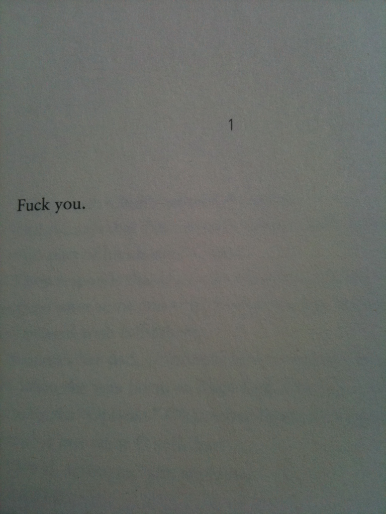 Here's how all first chapters should read