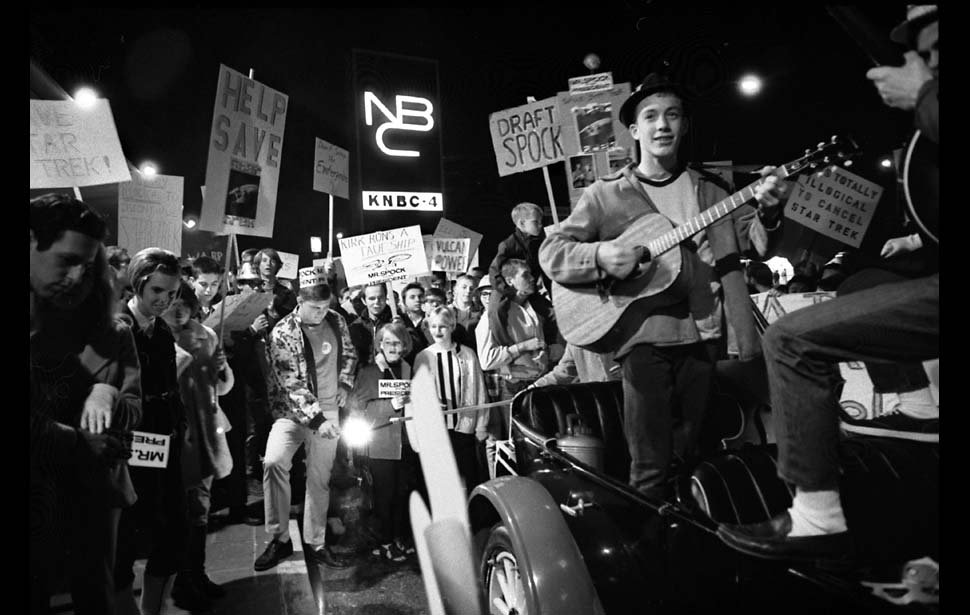 "samhumphries :     Jan. 6, 1968: Caltech students protest the rumored cancellation of the ""Star Trek"" TV series outside NBC Studios in Burbank. (via  LA Times )     All this is missing is  Harold Sipe  photoshopped in here waving a torch."