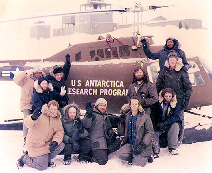 The Thing  is typically viewed by members of the winter crew at the U.S. South Pole station after the last flight out (usually in a double-feature with  The Shining ).
