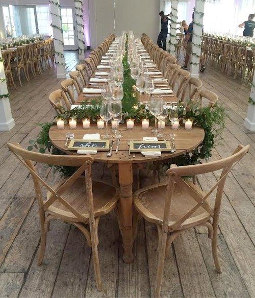 Half Moon Rustic Sweetheart Table