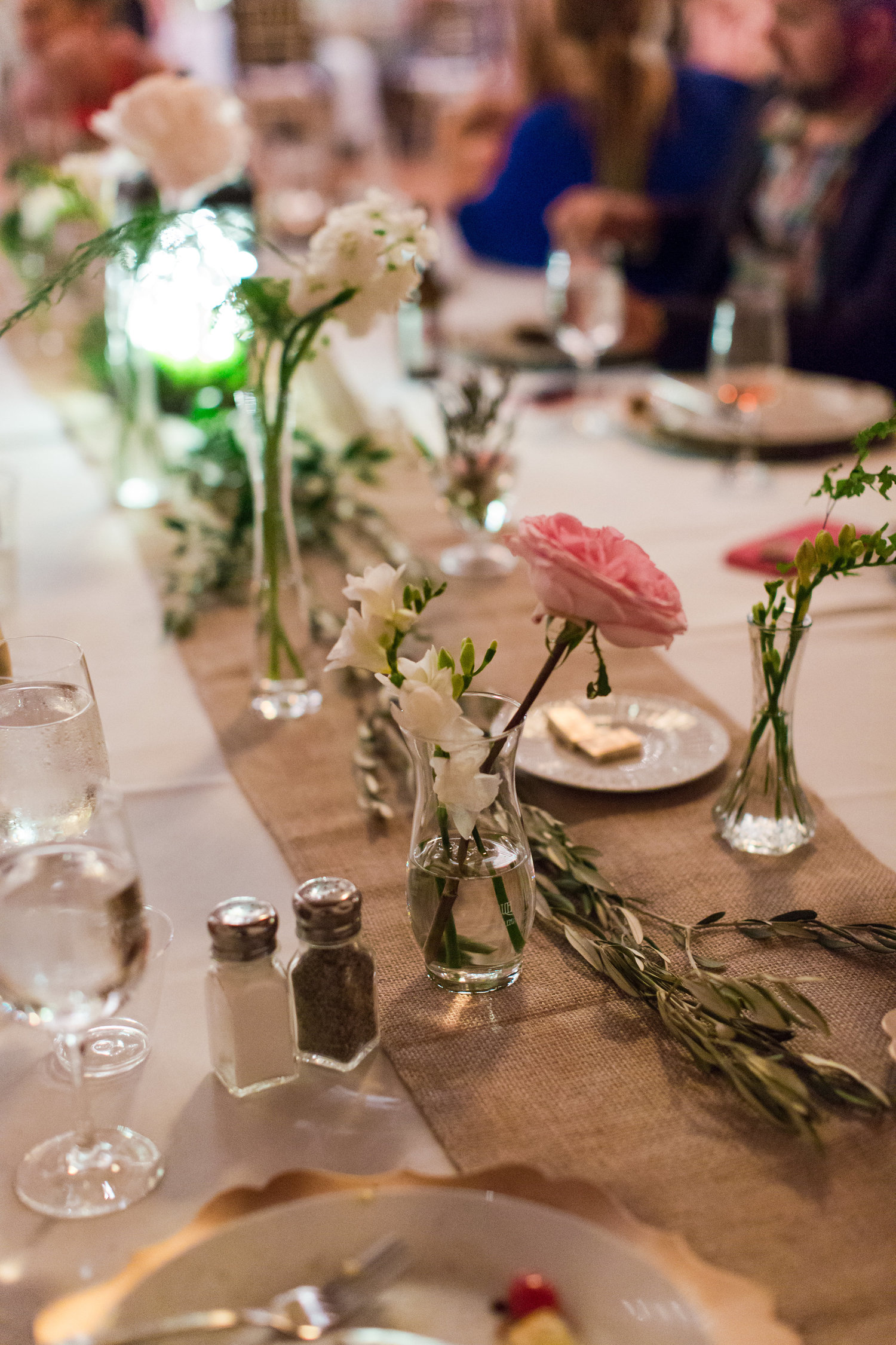 Mismatched Vintage Style Glass Vases — Simple Rustic & Simple Florals