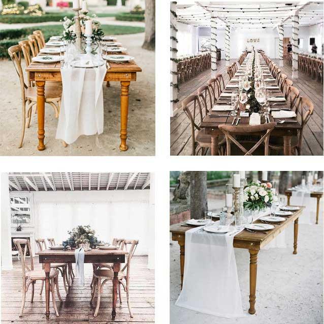 Simple Rustic - Farmhouse Table  Chair Rentals