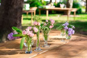 Mismatched Vintage Glass Vases