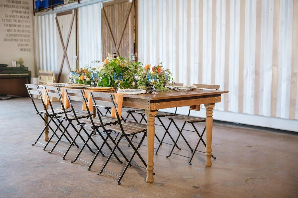 farmtable with iron wood chairjpg