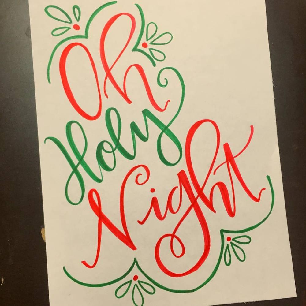 #christmasspirit runs deep tonight 😉🎄 #AMDlettering