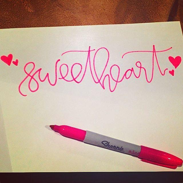 Let me call you #sweetheart... 💕💕#dndchallenge #letterit #AMDlettering