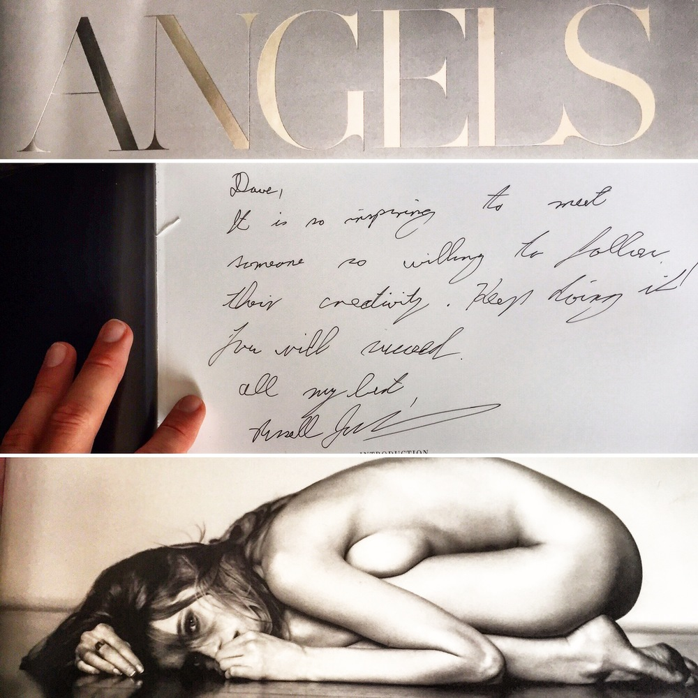 Russell was kind enough to write a few words in my copy of Angels.