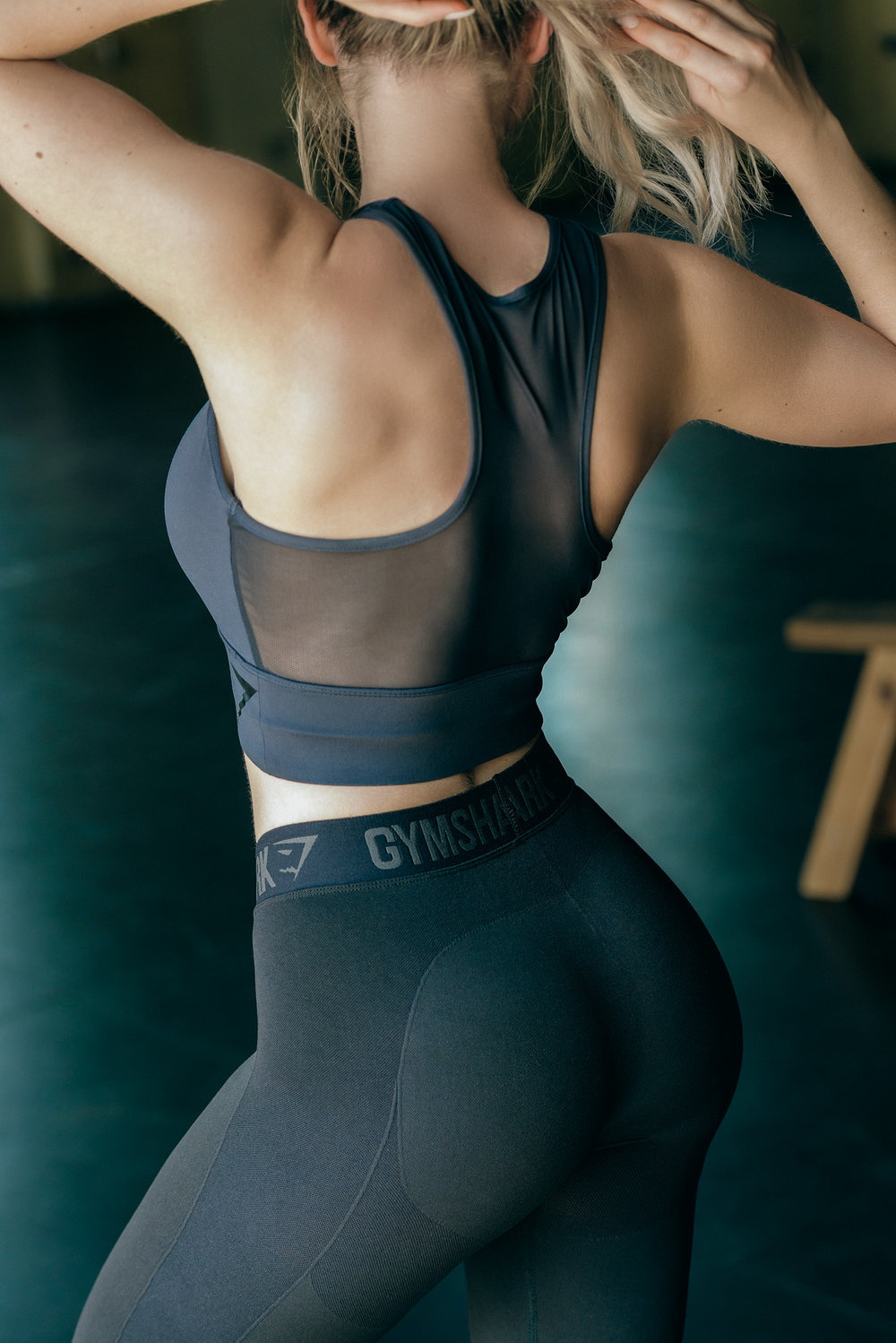 CampAign // Gymshark Womens - Robin Gallat; Photographed by Dave Blake; Hair-Makeup Valentina Pintus