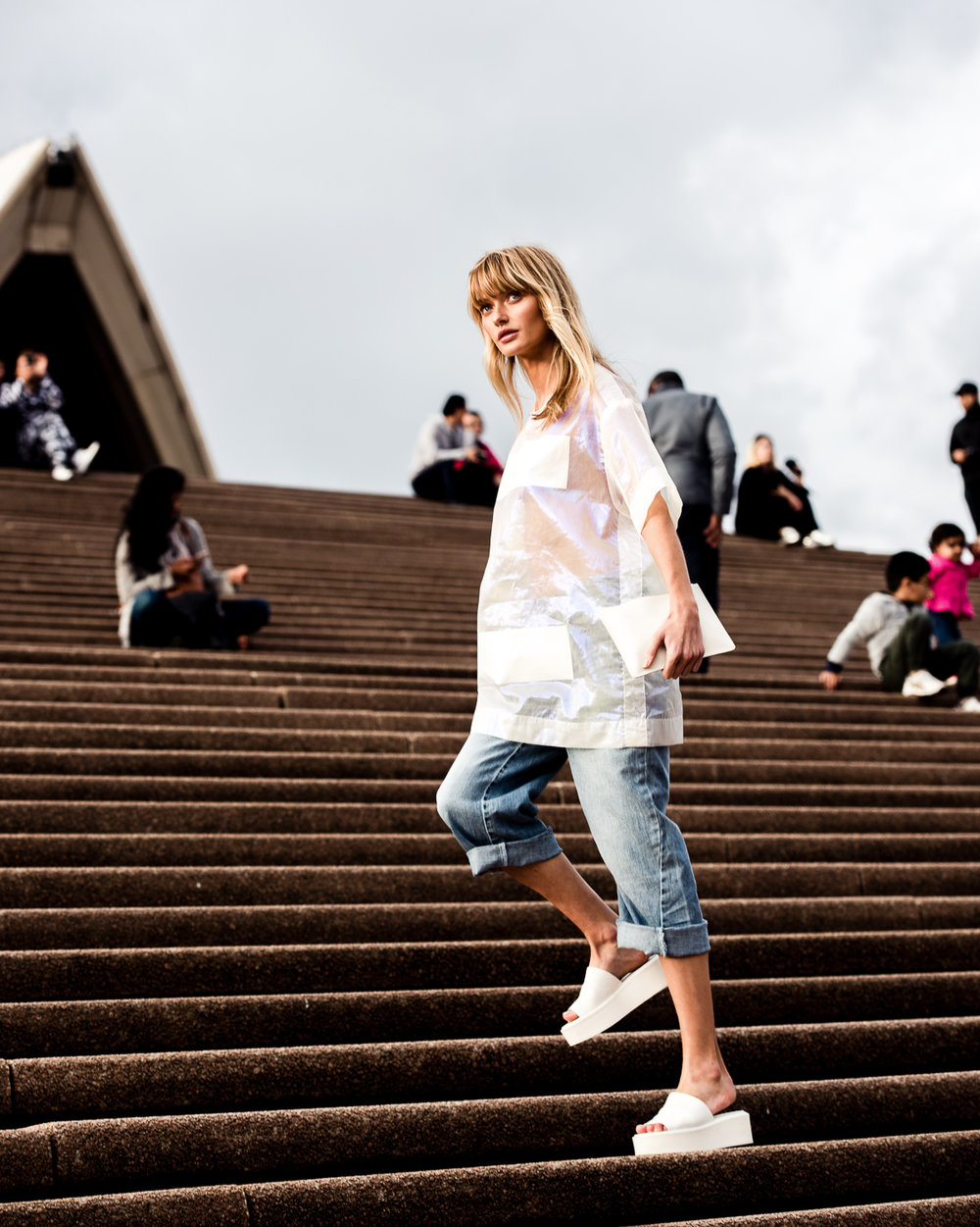 Annabella Barber (IMG Models) Spotted at MBFWA '17 on her way to the DION LEE show at the Sydney Opera House, wearing Surrounded by Ghosts.