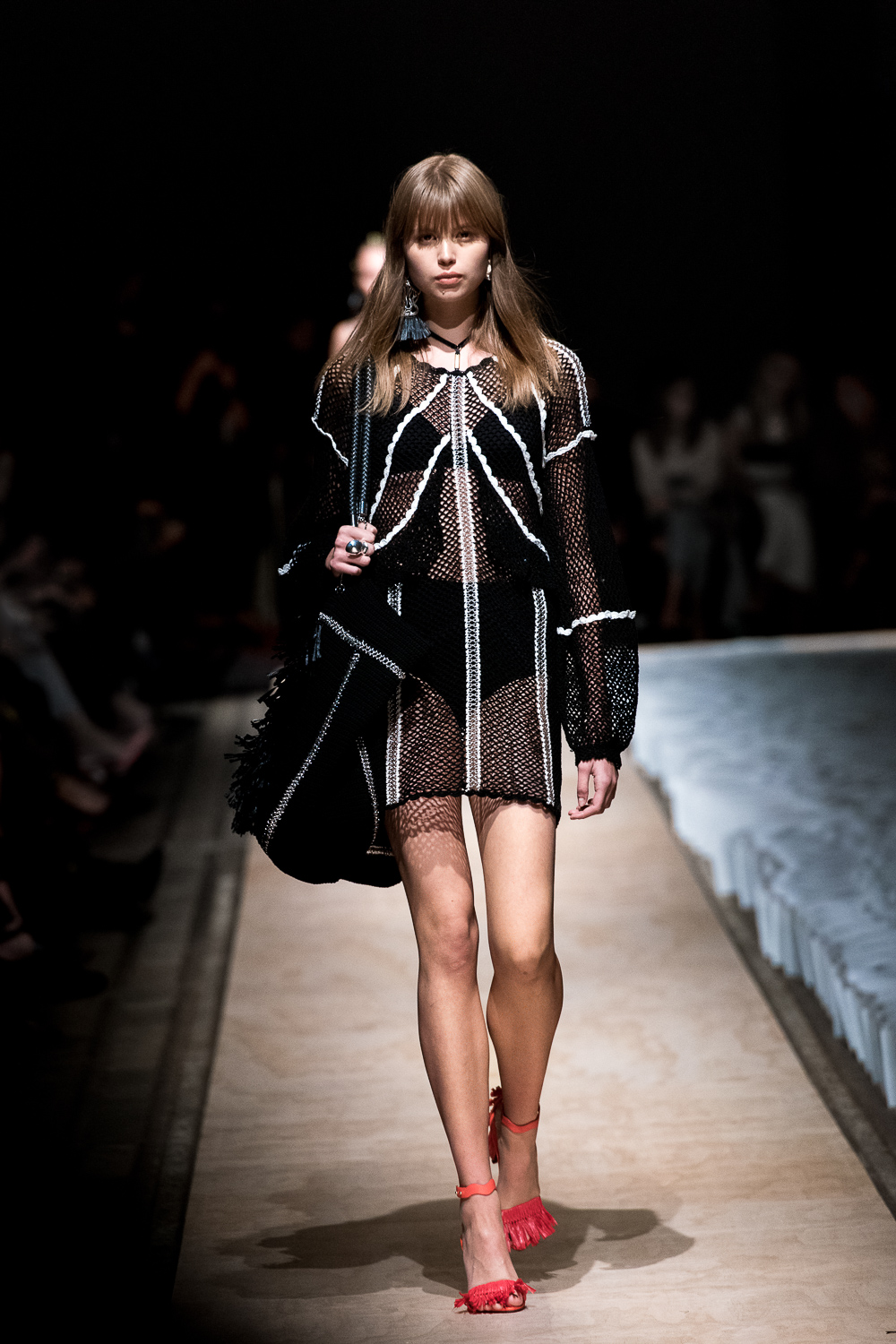 Chloe Worthington (Chadwick Models) walking for Sass & Bide in Bay 22-24 at Carriageworks.
