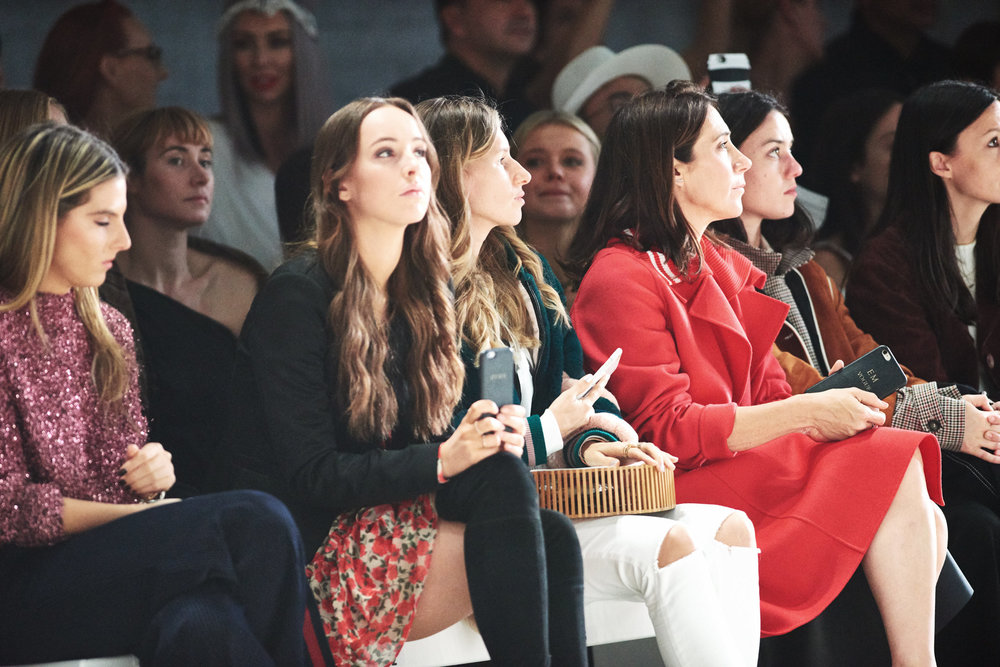 Front Row; Editor-in-chief of Vogue Australia, Edwina McCann