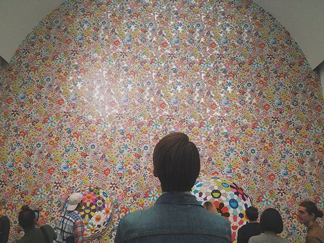 a thousand or so daisies.  #takashimurakami #mca #chicago #popart #neopop #color #fakeanalog #vsco