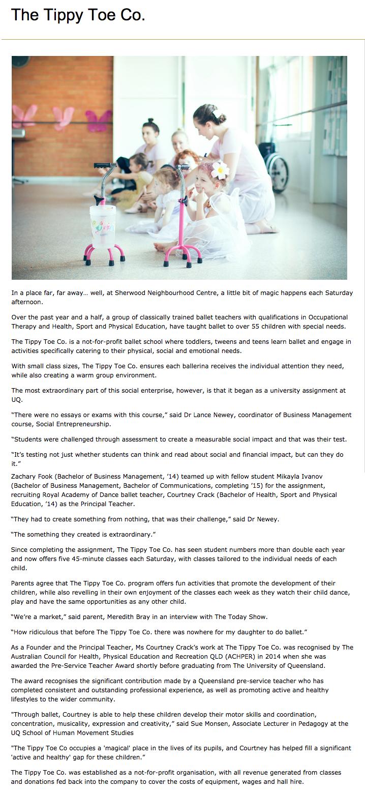 UQ Alumni News - Published 02/06/2015