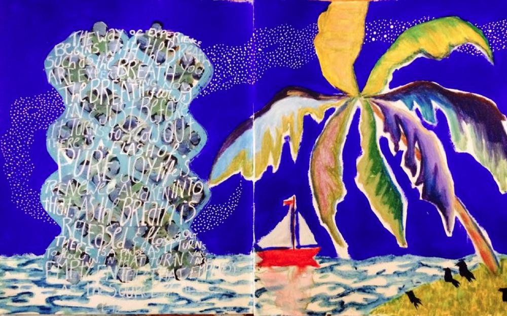 Breathe- journal page - Galia Alena