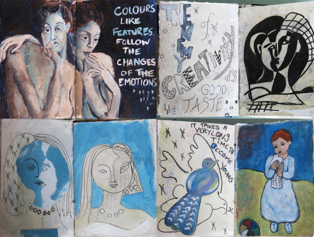 Picasso homage journal - Galia Alena